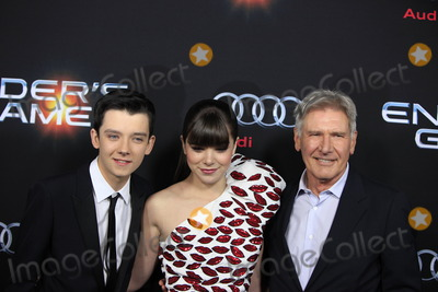 Asa Butterfield Photo - LOS ANGELES - OCT 28  Asa Butterfield Hailee Steinfeld Harrison Ford at the Enders Game Los Angeles Premiere at TCL Chinese Theater on October 28 2013 in Los Angeles CA