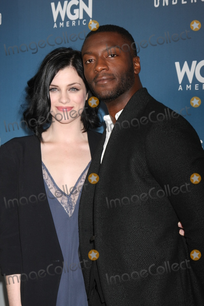 Aldis Hodge Photo - LOS ANGELES - JAN 8  Jessica de Gouw Aldis Hodge at the Underground WGN Winter 2016 TCA Photo Call at the The Langham Huntington Hotel on January 8 2016 in Pasadena CA