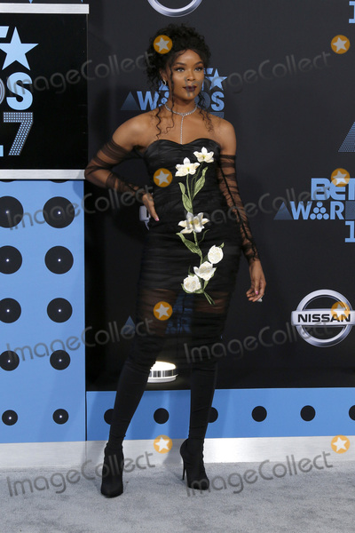 Ajiona Alexus Photo - LOS ANGELES - JUN 25  Ajiona Alexus at the BET Awards 2017 at the Microsoft Theater on June 25 2017 in Los Angeles CA