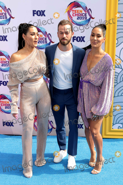 Artem Chigvintsev Photo - LOS ANGELES - AUG 11  Artem Chigvintsev Nikki Bella Brie Bella at the Teen Choice Awards 2019 at Hermosa Beach on August 11 2019 in Hermosa Beach CA