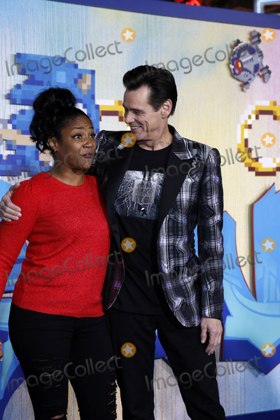 Tiffany Haddish Photo - LOS ANGELES - FEB 12  Tiffany Haddish Jim Carrey at the Sonic The Hedgehog Special Screening at the Village Theater on February 12 2020 in Westwood CA