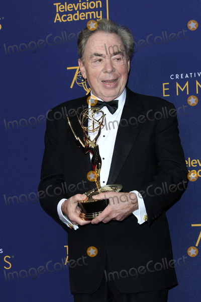 Andrew Lloyd Webber Photo - LOS ANGELES - SEP 9  Sir Andrew Lloyd Webber at the 2018 Creative Arts Emmy Awards - Day 2 - Press Room at the Microsoft Theater on September 9 2018 in Los Angeles CA