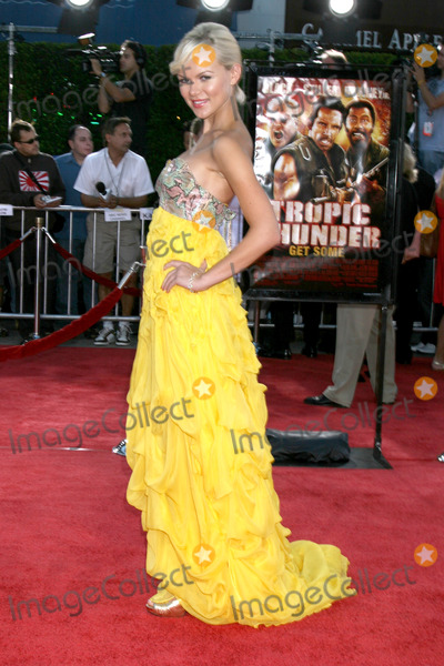 Anya Monzikova Photo - Anya Monzikova arriving at Tropic Thumder Premiere at the Manns Village Theater in Westwood CAAugust 11 2008