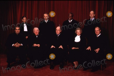 Antonin Scalia Photo - The chief justice of the United States William Hubbs Rehnquist underwent surgery for thyroid cancer at Bethesda Naval Hospital in Bethesda Maryland on October 23 2004 This group photo of the Justices of the United States Supreme Court taken at he Court on November 10 1994  (Left to right) Associate Justice Antonin Scalia Associate Justice Ruth Bader Ginsburg Associate Justice John Paul Stevens Associate Justice David Hackett Souter Chief Justice William H Rehnquist Associate Justice Clarence Thomas Associate Justice Sandra Day OConnor Associate Justice Stephen  G Breyer Associate Justice Anthony M Kennedy