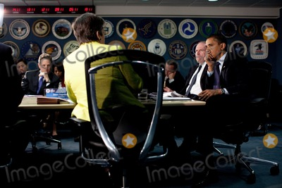 John Brennan Photo - Washington DC - May 29 2009 -- United States President Barack Obama attends a Federal Emergency Management Agency (FEMA) hurricane preparedness meeting at the FEMA headquarters building in Washington DC  President Obama is joined by Homeland Security Secretary Janet Napolitano FEMA Director Craig Fugate and Homeland Security advisor John Brennan US Secretary of the Treasury Tim Geithner is seen at leftMANDATORY CREDIT Pete SouzaWhite House-CNP-PHOTOlinknet