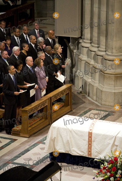 House Speaker Nancy Pelosi Photo - United States President Barack Obama First Lady Michelle Obama Vice President Joseph Biden US House Speaker Nancy Pelosi (Democrat of California) US Senate Majority Leader Harry Reid (Democrat of Nevada) US Representative James Clyburn (Democrat of South Carolina) and US Secretary Of State Hillary Rodham Clinton attend the funeral service for civil rights activist Dorothy Height held at the National Cathedral in Washington DC on Thursday April 29 2010  Height passed away on April 20 at the age of 98Photo by Kristoffer TripplaarPool-CNP-PHOTOlinknet