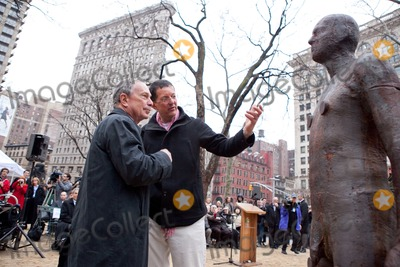 Antony Gormley Photo - New York NY 3232010Mayor Bloomberg and artist Antony Gormley  look over the work at the inauguration of Gormleys new public art installation Event Horizon a collection of thirty-one casts of the artist himself placed in and around Madison Square ParkDigital photo by Andy Lavin-PHOTOlinknet