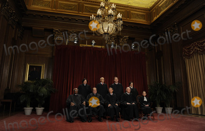 Stephen Breyer Photo - The Supreme Court Justices of the United States sit for a formal group photo in the East Conference Room of the Supreme Court in Washington on Friday October 8 2010 The Justices are (front row from left) Clarence Thomas Antonin Scalia John G Roberts (Chief Justice) Anthony Kennedy Ruth Bader Ginsburg (back row from left) Sonia Sotomayor Stephen Breyer Sameul Alito and Elena Kagan the newest member of the Court   Credit Roger L Wollenberg - Pool via CNP