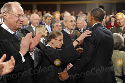 Stephen Breyer Photo - State of the Union7158JPGWashington 1 272010US Supreme Court Justice Ruth Bader Ginsburg(C) embraces US President Barack Obama as he enters the US House of Representatives to deliver his first State of the Union speech to a joint session of the US Congress January 27 2010 in Washington Justices Anthony Kennedy(L) and Stephen Breyer(Rt) are next to GinsburgDigital Photo by Tim SloanPool-CNP-PHOTOlinknet