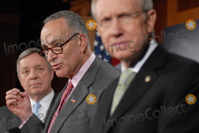 Harry Reid Photo - Washington DC 4222010Capitol Hill press conference(from left) Sen Dick Durbin (D-IL) Sen Charles Schumer (D-NY) and Sen Harry Reid (D-NV)  held a press conference on Wall Street accountability at the US Capitol Digital photo by Elisa Miller-PHOTOlinknet