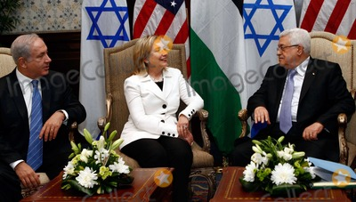 Benjamin Netanyahu Photo - United States Secretary of State Hillary Rodham Clinton (center) hosts direct talks between Palestinian President Mahmoud Abbas (right) and Israeli Prime Minister Benjamin Netanyahu (left) in Sharm El Sheikh Egypt on Tuesday September 14 2010 Photo by Department of StateCNP-PHOTOlinknet