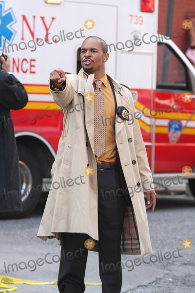 Damon Wayans Jr Photo - New York 9-25-09Damon Wayans Jr Mark Wahlberg  Will Ferrell on the movie set of The Other GuysDigital photo by Maggie Wilson-PHOTOlinknet