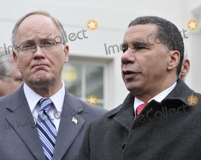 David A Paterson Photo - Washington DC - February 22 2009 -- Governor Jim Douglas (Republican of Vermont) Chairman National Governors Association (NGA) left and Governor David A Paterson (Democrat of New York) meet reporters after they and their fellow governors met United States President Barack Obama at the White House in Washington DC on Monday February 22 2010Photo by Ron Sachs-CNP-PHOTOlinknet