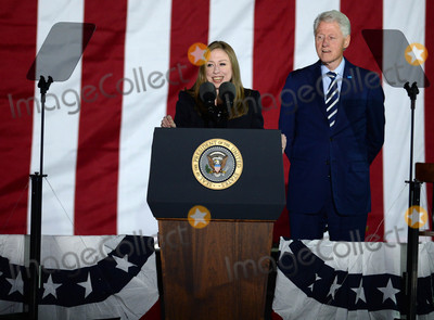 Bill Clinton Photo - Photo by Dennis Van TinestarmaxinccomSTAR MAX2016ALL RIGHTS RESERVEDTelephoneFax (212) 995-119611716Chelsea Clinton and Bill Clinton at a Get Out The Vote Rally(Philadelphia PA)