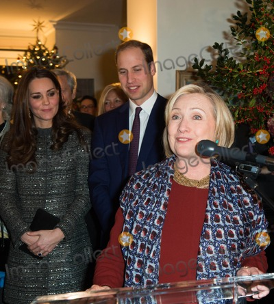 THE CLINTONS Photo - Photo by KGC-178starmaxinccomSTAR MAX2014ALL RIGHTS RESERVEDTelephoneFax (212) 995-119612814Prince William The Duke of Cambridge Kate Middleton Catherine The Duchess of Cambridge and Hillary Clinton attend the Conservation Reception at the residence of the British Consul General in New York City  The reception was co-hosted by the Royal Foundation and the Clinton Foundation in recognition of the conservation work carried out by Tusk and The United for Wildlife Partners The Wildlife Conservation Society Conservation International and The Nature Conservancy(NYC)