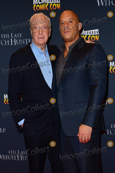 Michael Caine Photo - Photo by KGC-42starmaxinccomSTAR MAXCopyright 2015ALL RIGHTS RESERVEDTelephoneFax (212) 995-1196101915Sir Michael Caine and Vin Diesel at the premiere of The Last Witch Hunter(London England UK)