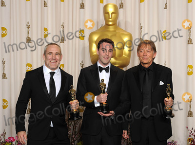 Andy Nelson Photo - Andy Nelson Mark Paterson and Simon Hayes with the Oscar for Achievement in Sound Mixing for Les Miserables at the 85th Academy Awards at the Dolby Theatre Los Angeles