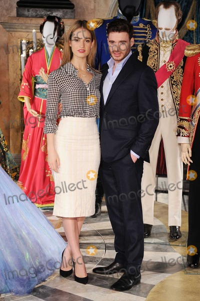 Cinderella Photo - Photo by KGC-42starmaxinccomSTAR MAX2015ALL RIGHTS RESERVEDTelephoneFax (212) 995-119632015Lily James and Richard Madden at the photocall for Cinderella in Leicester Square Gardens(London England UK)