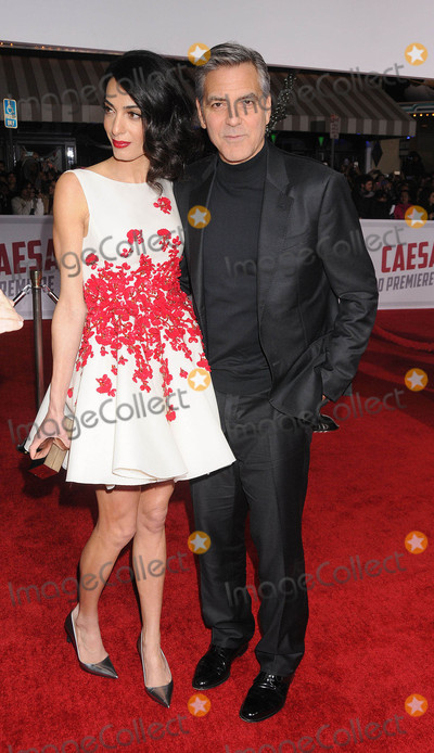 Amal Alamuddin Photo - Photo by GalaxystarmaxinccomSTAR MAX2016ALL RIGHTS RESERVEDTelephoneFax (212) 995-11962116George Clooney and Amal Alamuddin at the premiere of Hail Caesar(Los Angeles CA)