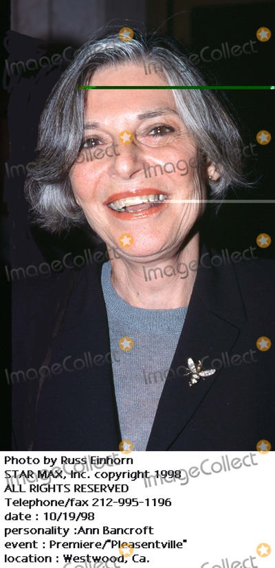 Anne Bancroft Photo - Photo by Russ EinhornSTAR MAX Inc - copyright 1998Ann Bancroft