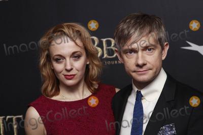 Amanda Abbington Photo - Photo by John M Mantelstarmaxinccom12612(NYC)Amanda Abbington and Martin Freeman arrive at The Hobbit movie premiere