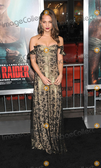 Alicia Vikander Photo - Photo by GalaxystarmaxinccomSTAR MAX2017ALL RIGHTS RESERVEDTelephoneFax (212) 995-119631218Alicia Vikander at the premiere of Tomb Raider in Los Angeles CA