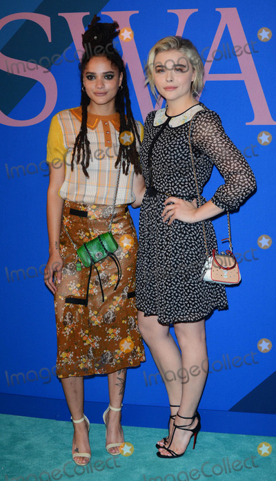 Sasha Lane Photo - Photo by Patricia SchleinstarmaxinccomSTAR MAX2017ALL RIGHTS RESERVEDTelephoneFax (212) 995-11966517Sasha Lane and Chloe Grace Moretz at The 2017 CFDA Fashion Awards in New York City