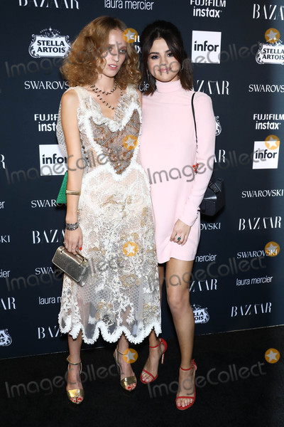 Selena Gomez Photo - Photo by John NacionstarmaxinccomSTAR MAX2017ALL RIGHTS RESERVEDTelephoneFax (212) 995-11969817Petra Collins and Selena Gomez at The 2017 Harpers Icons in New York City