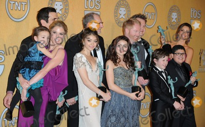 Aubrey Anderson Photo - Photo by PDAADstarmaxinccom2012ALL RIGHTS RESERVEDTelephoneFax (212) 995-119612912Julie Bowen Aubrey Anderson-Emmons Ty Burrell Sarah Hyland Ed ONeill Jesse Tyler Ferguson Ariel Winter Eric Stonestreet Nolan Gould Rico Rodriguez and Sofia Vergara - Winners for Ensemble in a Comedy Series at the 18th Annual Screen Actors Guild Awards (SAG)