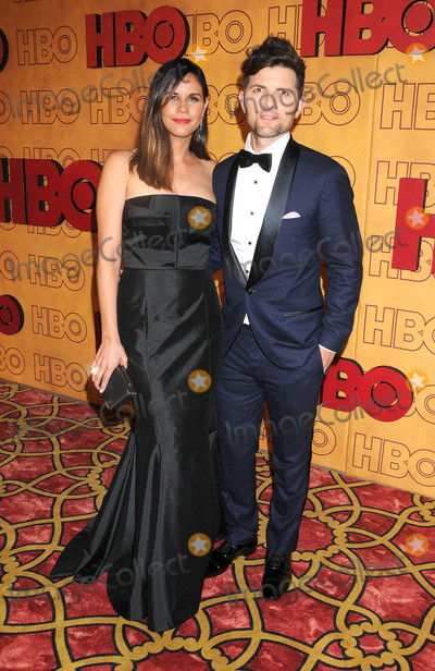 Adam Scott Photo - Photo by GalaxystarmaxinccomSTAR MAX2017ALL RIGHTS RESERVEDTelephoneFax (212) 995-119691717Naomi Scott and Adam Scott at HBOs Post Emmy Awards Reception in Los Angeles CA