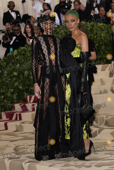 Adwoa Aboah Photo - Photo by zzXPXstarmaxinccomSTAR MAXCopyright 2018ALL RIGHTS RESERVEDTelephoneFax (212) 995-11965718Cara Delevingne and Adwoa Aboah at the 2018 Costume Institute Benefit Gala celebrating the opening of Heavenly Bodies Fashion and the Catholic Imagination(The Metropolitan Museum of Art NYC)