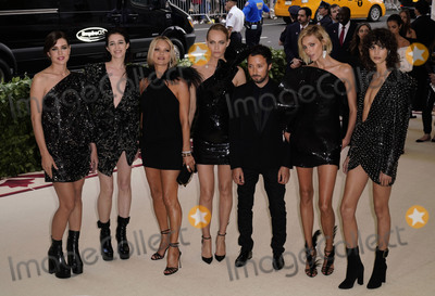 Anja Rubik Photo - Photo by zzXPXstarmaxinccomSTAR MAXCopyright 2018ALL RIGHTS RESERVEDTelephoneFax (212) 995-11965718Charlotte Casiraghi Charlotte Gainsbourg Kate Moss Amber Valletta Anthony Vaccarello Anja Rubik and Mica Arganaraz at the 2018 Costume Institute Benefit Gala celebrating the opening of Heavenly Bodies Fashion and the Catholic Imagination(The Metropolitan Museum of Art NYC)