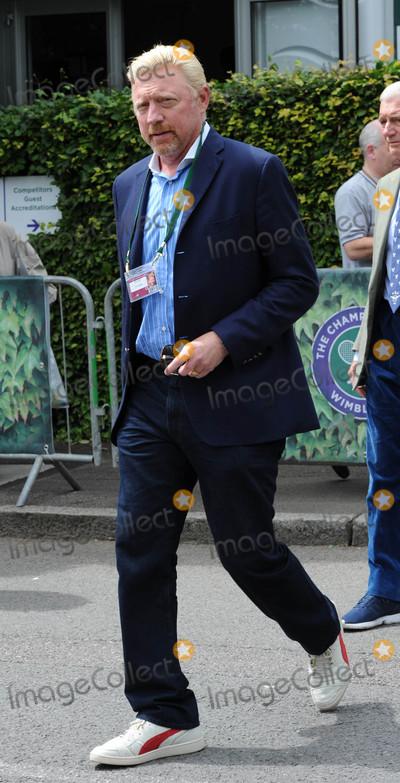 Boris Becker Photo - Photo by KGC-160starmaxinccomSTAR MAX2016ALL RIGHTS RESERVEDTelephoneFax (212) 995-11967816Boris Becker seen arriving at Wimbledon(London England)