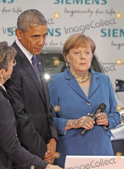 Angela Merkel Photo - US-President BARACK OBAMA and German chancellor ANGELA MERKELvisiting the  Hannover Messe 25042016