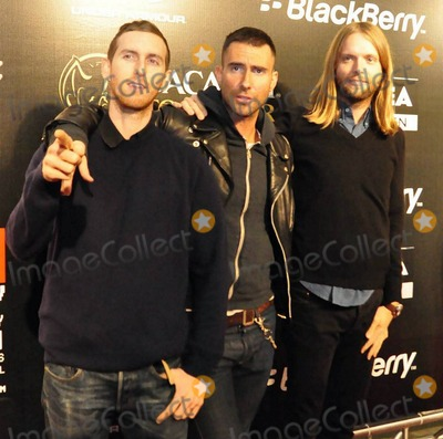 Jess Adams Photo - Jesse Carmichael Adam Levine and James Valentine arrive at The Black Eyed Peas pre Super Bowl party presented by Bacardi and Sports Illustrated held at Music Hall at Fair Park  The Black Eyed Peas will be performing tomorrow during the Super Bowl XLV half time show where the Pittsburgh Steelers are playing the Green Bay Packers  Dallas TX 020411
