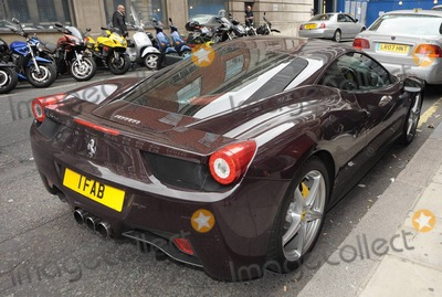 ACDC Photo - EXCLUSIVE BBC Radio 2 DJ Chris Evans new Ferrari parked outside the studio  As lead singer for the legendary rock band ACDC Brian Johnson left BBC Radio studios he was asked if hed pose beside the brown sports car and he reportedly said jokingly With all due respect why would I want to pose in front of someone elses car I just bought a new Ferrari today London UK 072910Fees must be agreed prior to publication