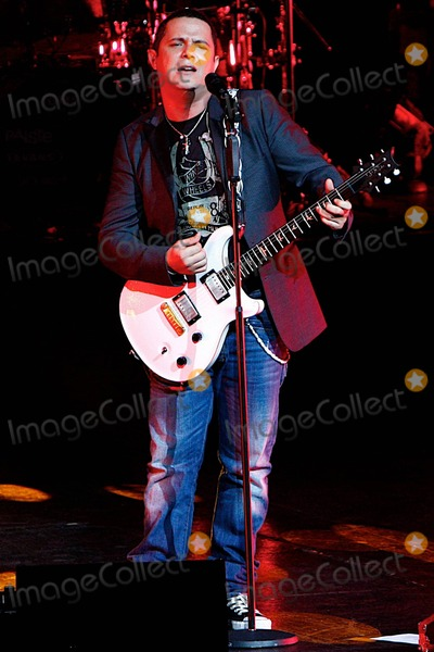 Alejandro Sanz Photo - Latin pop singer Alejandro Sanz performs live at The Gibson Amphitheatre with friends Dominican singer Juan Luis Guerra and Ricardo Montaner  Over his 19-year career Sanz has won 14 Latin Grammy Awards 2 Grammy Awards and has collaborated with Colombian pop star Shakira  Alejandro Sanz pictured Los Angeles CA 072310