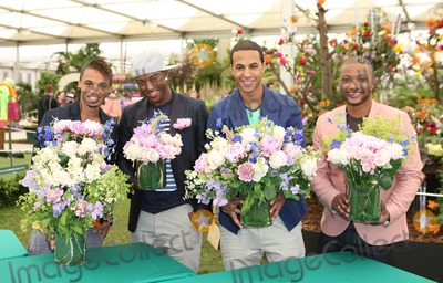Aston Merrygold Photo - British X Factor boyband JLS members Aston Merrygold Oritse Williams Marvin Humes and Jonathan Gill at The RHS Chelsea Flower Show 2011 The event is the worlds most famous flower show and celebrates the highest quality horticulture London UK 052311