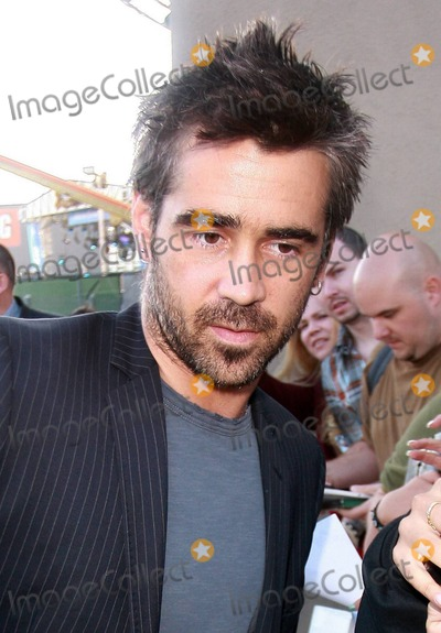 Ondine Photo - Irish bad boy actor Colin Farrell arrives via the back door at the Jimmy Kimmel Live studio to appear on the ABC talk show  Farrell 34 was at the show to promote his latest film Ondine a drama that was filmed in Farrells home country and is being released in the US on June 4th  The Golden Globe and IFTA award winner happily signed autographs posed for photos with fans and despite looking a bit scruffy with his messy hair and beard looked sharp in a pinstriped jacket  Farrell who is dating his Ondine co-star actress Alicja Bachleda wore a ring on his wedding ring finger Los Angeles CA 060310