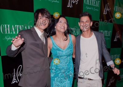 Kiowa Gordon Photo - Twilight stars Bronson Pelletier Tinsel Korey and Kiowa Gordon pose for photographers at Chateau Nightclub inside the Paris Hotel to celebrate Korey and Gordons birthdays Las Vegas NV 032611