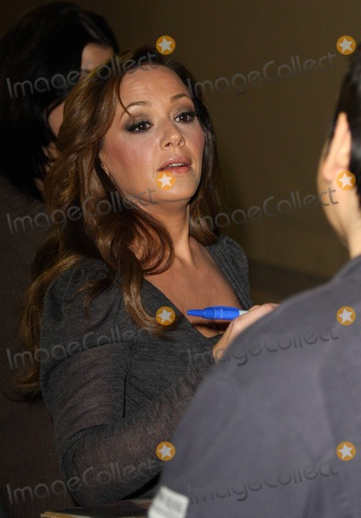 Leah Remini Photo - Actress Leah Remini looks comfortable in a pair of purple furry house slippers as she carries her high heels while leaving the Jimmy Kimmel Live studios after an appearance Remini was all smiles and stopped to sign autographs for fans as she left Los Angeles CA 111610