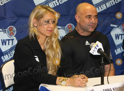 Andre Agassi Photo - Anna Kournikova and Andre Agassi at the 18th annual World Team Tennis (WTT) Smash Hits presented by GEICO a charity tennis event benefiting the Elton John AIDS Foundation and the Washington AIDS Partnership held at Bender Arena at American University  Prior to the tennis match players attended a VIP reception and participated in a live auction Washington DC 111510