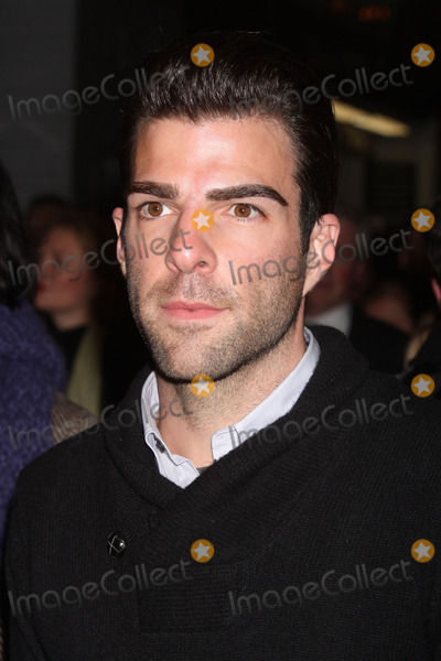 Arthur Miller Photo - New York NY 01-24-2010Zachary Quinto at the opening night performance of Arthur Millers A VIEW FROM THE BRIDGE at the Cort TheatreDigital photo by Lane Ericcson-PHOTOlinknet