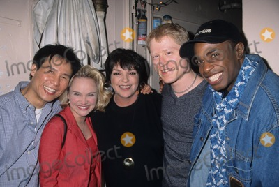 Anthony Rapp Photo - Kristin Chenoweth with Liza Minnelli  Bd Wong  Anthony Rapp and Stanley Wayne Mathis Youre a Good Man Charlie Brown After the Perf at Ambassador Theatre in New York 1999 K15710hmc Photo by Henry Mcgee-Globe Photos Inc