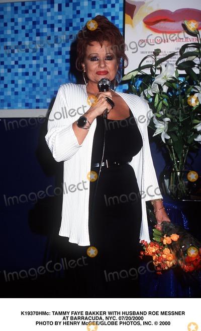 Tammy Faye Baker Photo -  Tammy Faye Bakker with Husband Roe Messner at Barracuda NYC 07202000 Photo by Henry McgeeGlobe Photos Inc