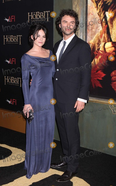 Aidan Turner Photo - Aidan Turner and Sarah Greene Arriving at the Premiere of the Hobbit an Unexpected Journey at the Ziegfeld Theatre in New York City on 12-06-2012 Photo by Henry Mcgee-Globe Photos Inc 2012