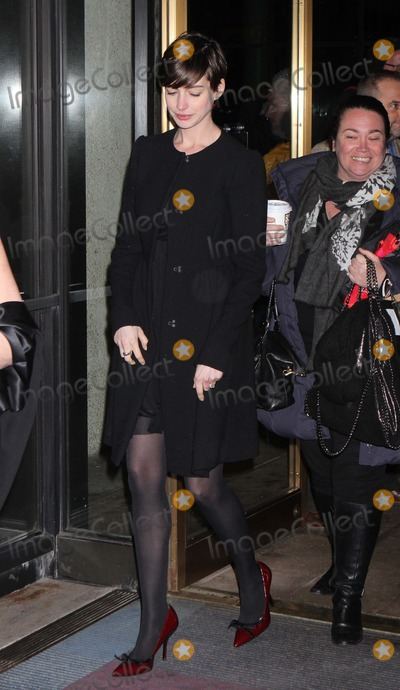Ann Richards Photo - Anne Hathaway Arriving at the Opening Night Performance of Ann Starring Holland Taylor As Governor Ann Richards at Lincoln Centers Vivian Beaumont Theatre in New York City on 03-07-2013 Photo by Henry Mcgee-Globe Photos Inc 2013