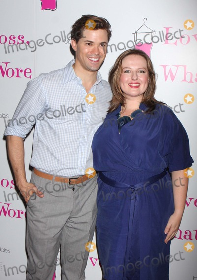 Andrew Rannells Photo - ANDREW RANNELLS (from The Book of Mormon) and ZUZANNA SZADKOWSKI (Dorota from The CWs Gossip Girl) arriving at a party to welcome the newest cast members in Off-Broadways Love Loss and What I Wore at B Smiths Restaurant in New York City on 07-07-2011  Photo by Henry McGee-Globe Photos Inc 2011