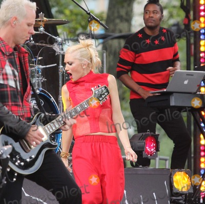 Tom Dumont Photo - Tom Dumont and Gwen Stefani of No Doubt Performing on Abcs Good Morning America 2012 Summer Concert Series at Central Parks Rumsey Playfield in New York City on 07-27-2012 Photo by Henry Mcgee-Globe Photos Inc 2012