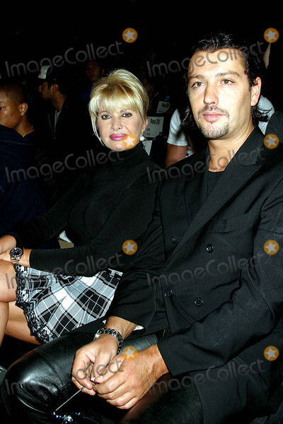 Amir Slama Photo - Ivana Trump with Her Boyfriend at Rosa Cha by Amir Slama Showing of Swimwear at Gertrude Tent in Bryant Park New York City on September 13 2003 Photo Henry Mcgee Globe Photos Inc 2003